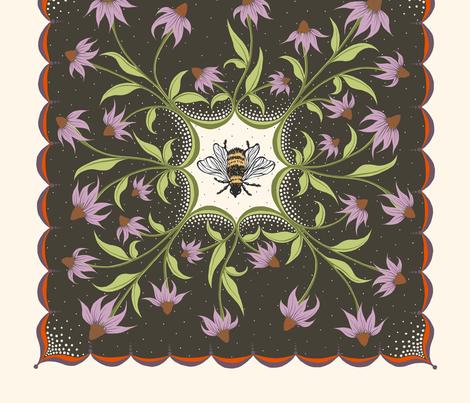 Bee Pillow fabric by corinnafieldofflowers on Spoonflower - custom fabric