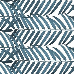 Luxe Palm Leaf (indigo)