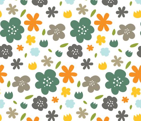Backyard 004 - Summer Palette fabric by m0dm0m on Spoonflower - custom fabric