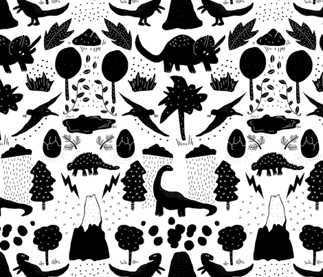 dinotiled fabric by bundil on Spoonflower - custom fabric