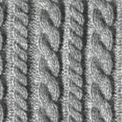 Knitting in grey