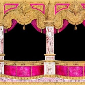 Box Seats ~ Gilt Gold and Hot Pink