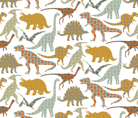 Spotted Dinos fabric by jillbyers on Spoonflower - custom fabric