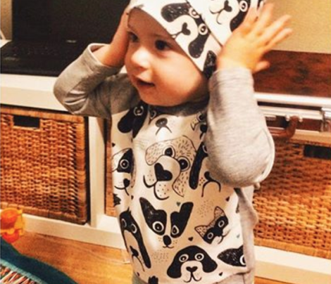 I love big silly dogs cute black and white puppy and dog design