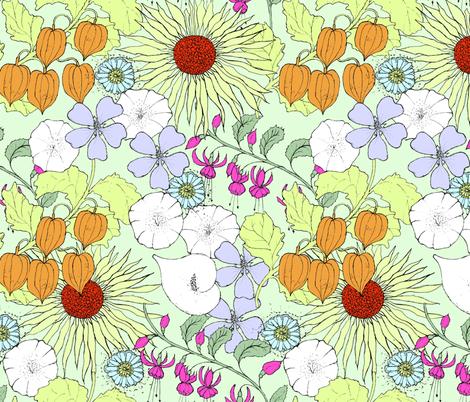 Lantern Print fabric by catherine_digman on Spoonflower - custom fabric