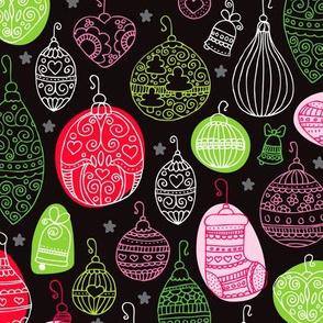 Jingle bells christmas decoration green red black