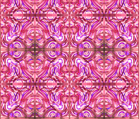 cestlaviv_pink ribbonA 36x36 fabric by cest_la_viv on Spoonflower - custom fabric