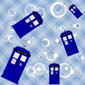 Police Box Blue Plaid 11-900