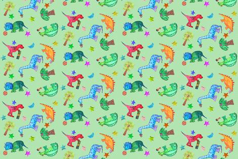 Dotty Little Dinos fabric by hsarik on Spoonflower - custom fabric