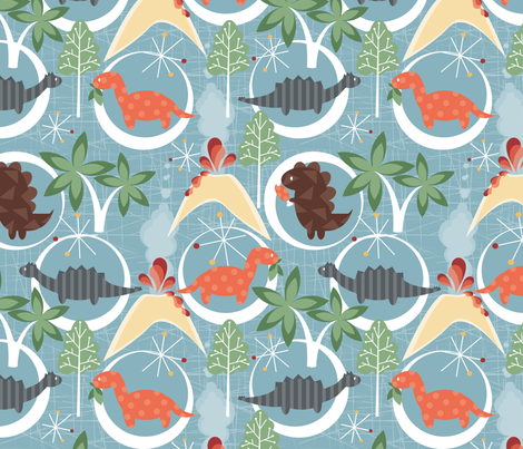 Dino fabric by tarabehlers on Spoonflower - custom fabric