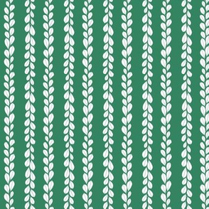 Mini leaf lines - green
