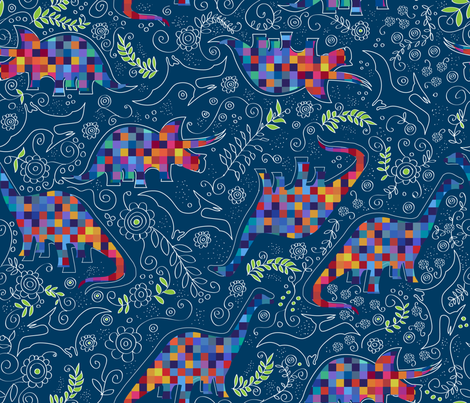 Reinventing the era fabric by liluna on Spoonflower - custom fabric