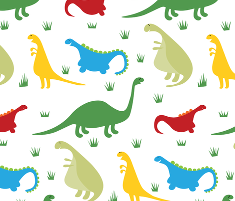 dinosaur_parade fabric by doris&fred on Spoonflower - custom fabric