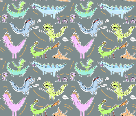 din-o-saurus sillious! fabric by pattyryboltdesigns on Spoonflower - custom fabric