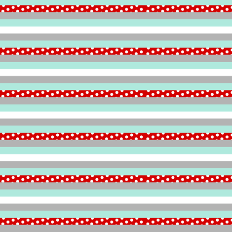 AquaRedStripes fabric by mrshervi on Spoonflower - custom fabric