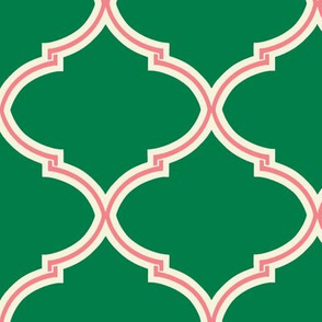 Lily Trellis in Green and Pink