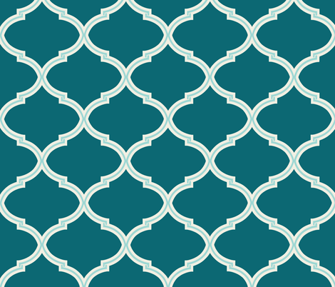 Lily in Shades of Teal fabric by willowlanetextiles on Spoonflower - custom fabric