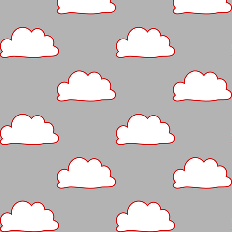 RedLineClouds fabric by mrshervi on Spoonflower - custom fabric
