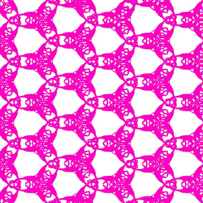 Diplodocus Doily (in pink)