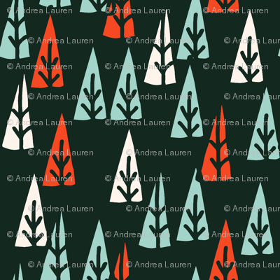 holiday trees // red and mint christmas fabric