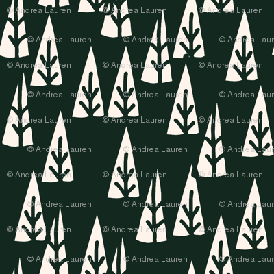 holiday trees // green holiday christmas fabric