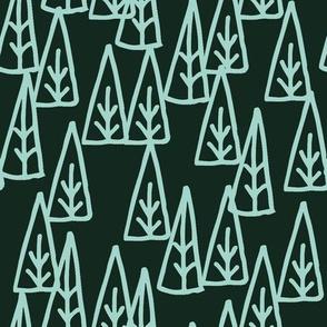 holiday trees // xmas holiday christmas fabric