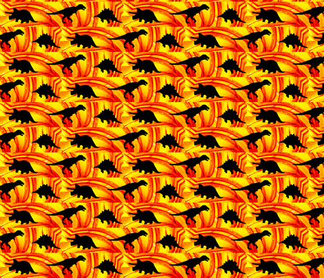 Dinosaur Time fabric by dovetail_designs on Spoonflower - custom fabric