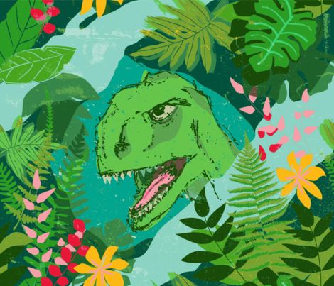 Exotic dino fabric by sansan on Spoonflower - custom fabric