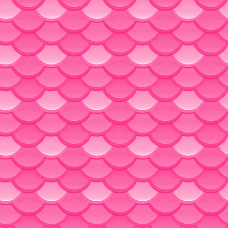 Bubblegum Mermaid Scales fabric by peacoquettedesigns on Spoonflower - custom fabric