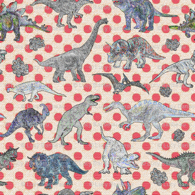 textured dinosaurs