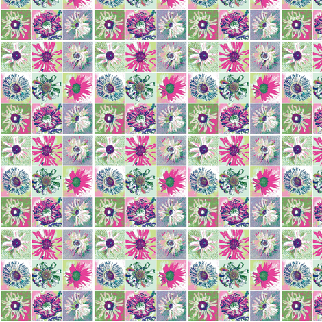 Dried Daisies Patchwork fabric by larkspur_hill on Spoonflower - custom fabric