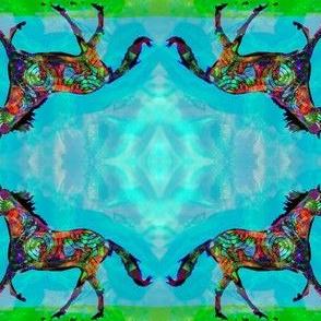 Celtic Horse 2, Smaller Mirror Repeat