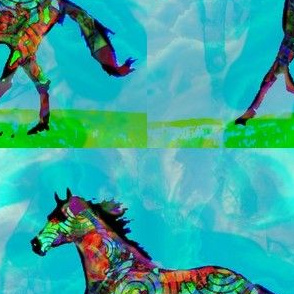 Celtic Horse 2 - Larger Repeat