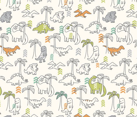 Jurassic Jungle fabric by auki on Spoonflower - custom fabric
