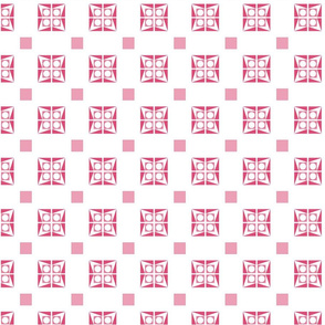 Dice Design Pink and White