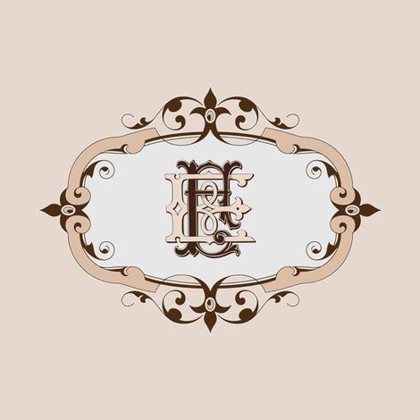 EF Monogram fabric by itzuki87 on Spoonflower - custom fabric
