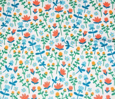 Field flowers doodle pattern