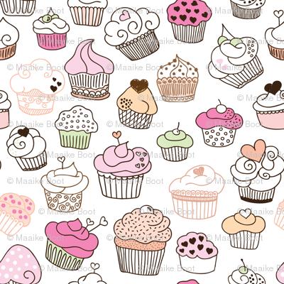 Sweet cupcake girls cake and candy birthday theme