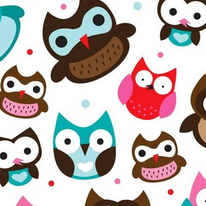 Retro owls for boys and girls scandinavian style