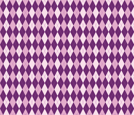 argyle in purple tone fabric by alexiazotos on Spoonflower - custom fabric