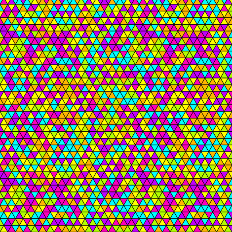 Neon Triangles fabric by patchinista on Spoonflower - custom fabric