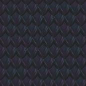 Dragon Scale Fabric - Dark Blue
