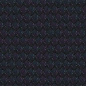 Dragon Scale Fabric - Dark Blue
