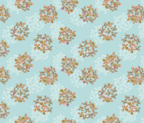 Hydrangea bunches fabric by linkolisa on Spoonflower - custom fabric