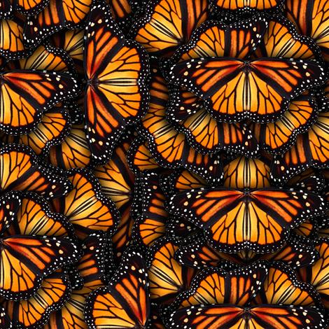 Heaps of Orange Monarch Butterflies fabric by bonnie_phantasm on Spoonflower - custom fabric