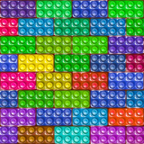 Builder's Bricks - Colorful fabric by bonnie_phantasm on Spoonflower - custom fabric