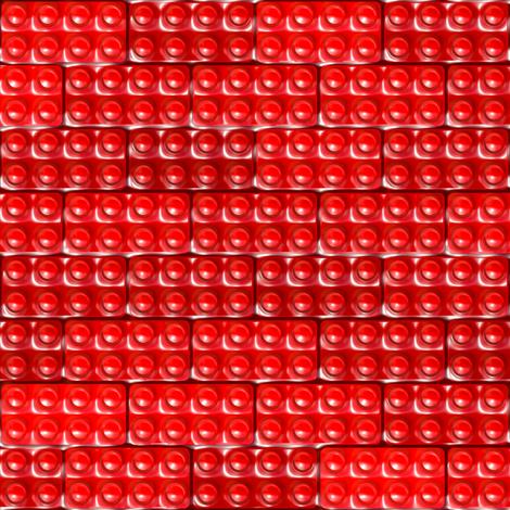 Builder's Bricks - Red fabric by bonnie_phantasm on Spoonflower - custom fabric