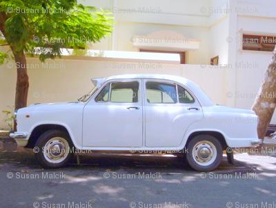 Indian Ambassador car in Pondicherry