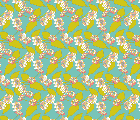 Butterfly garden fabric by zoebrench on Spoonflower - custom fabric