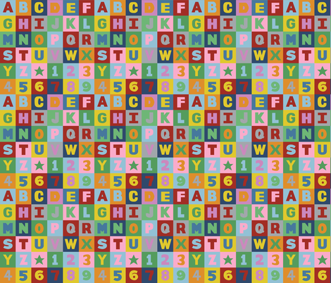 Alphabet fabric by projectm on Spoonflower - custom fabric